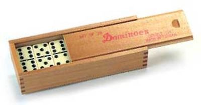 Official Pub Players Club Dominoes With Brass Spinner 11mm Thickness With Case