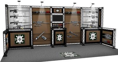 10x20 Gun Rifle Trade Show Display Rifle Rack Gun Rack Shot Show Display