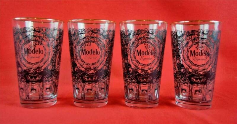 Set of 4 Modelo Especial 16 oz Mixing Drinking Glasses Bar Man Cave 345866 Metal