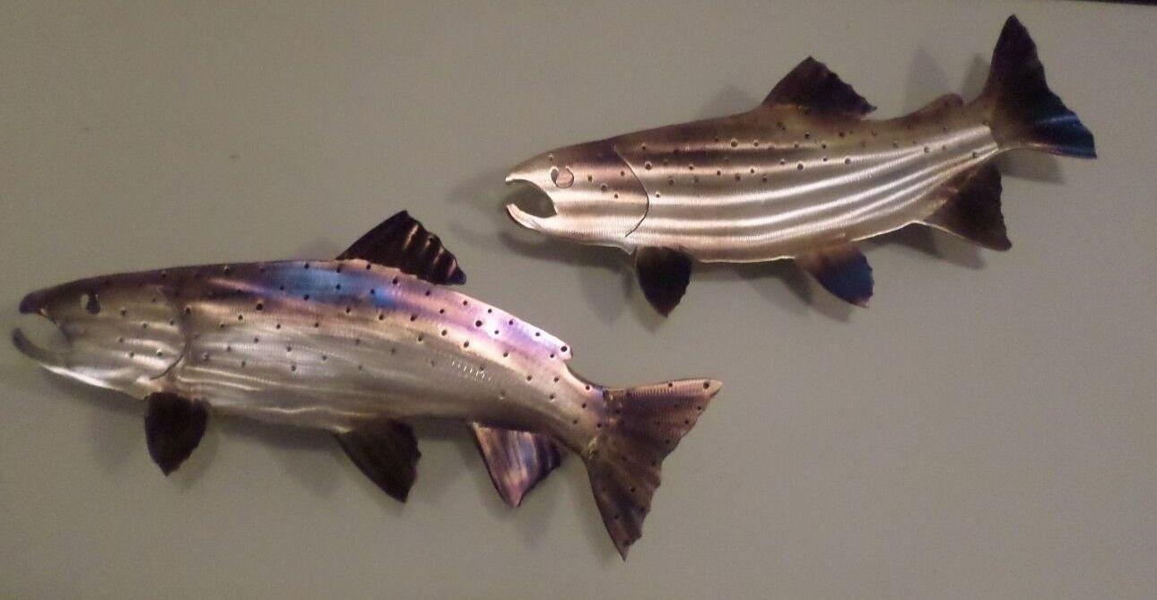 Set Hand Made Metal Steelhead Trout Fish Fly Fishing Home Decorators Catalog Best Ideas of Home Decor and Design [homedecoratorscatalog.us]
