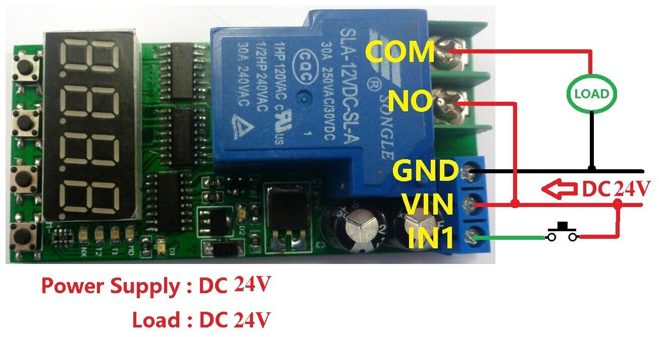 Details about DC 24V 30A High Power Multifunction Cycle Timer Delay on