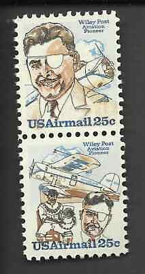 1979 US MINT C95-C96 ATTACHED PAIR AIR MAIL MNH