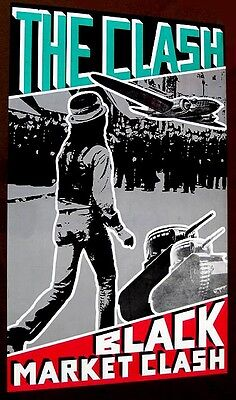 the Clash 1980 BLACK MARKET CLASH poster guaranteed original
