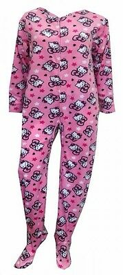 Sanrio Hello Kitty Footed Pajamas Pink Footie 1 PC S M L or XL NWT ALMOST GONE - Pink Footie Pajamas
