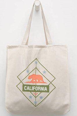 NWT ROXY CALIFORNIA BEAR CANVAS SHOULDER TOTE BEACH TRAVEL GYM SCHOOL BAG PURSE for sale  Klamath Falls