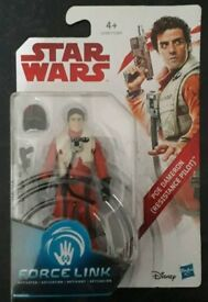 Star Wars The Last Jedi Poe Resistance Pilot Force Link Brand New And Sealed Figure