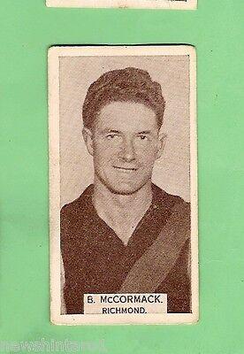 1933 WILLS CIGARETTE  CARD  #15.  B.  McCORMACK, RICHMOND