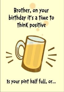 Personalised Birthday Card Beer Brother In Law Uncle Dad Funny Humorous