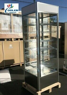 New 79 High Stack Warmer Display Case For Shelf Hot Food Pizza Snack 6 Shelves
