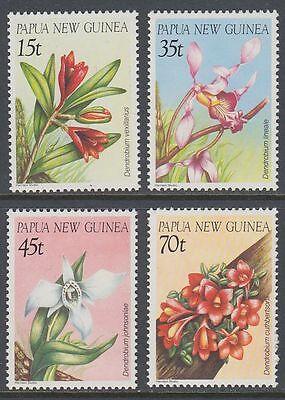 Papua-Neuguinea 1986 ** Mi.531/34 Blumen Flowers Orchideen Orchids [sq7078]