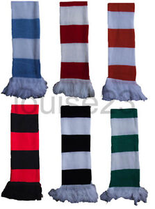 X14-FOOTBALL-SUPPORTERS-RETRO-BAR-STRIPE-SCARF-FOOTBALL-CLUB-WINTER-WARM-SNOOD