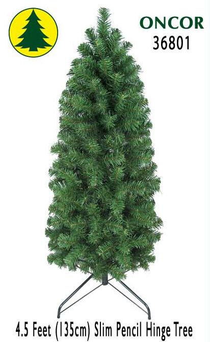 4.5ft Eco-Friendly Oncor Slim Pencil Christmas Tree