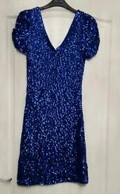 Blue sparkly dress and shoes