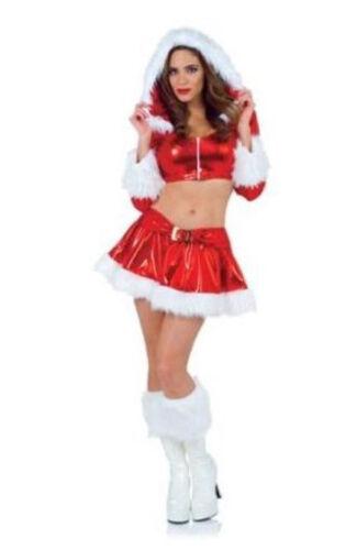 Halloween Cosplay Costume Womens Med Cute Sexy Vixen Santa Christmas Underwraps