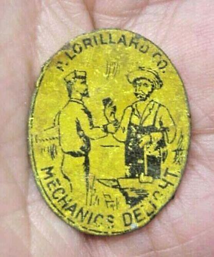 Mechanics Delight  P. Lorillard - Tobacco Tag