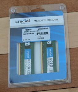 16GB (2x8GB) Ram DDR3 1600 ECC Unbuffered (CT2KIT102472BD160B)