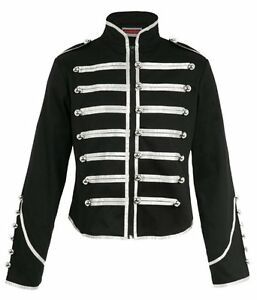 JAWBREAKER-STEAMPUNK-SILVER-MILITARY-JACKET-DRUMMER-HUSSAR-BAND-BLACK-PARADE-EMO