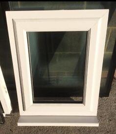 Small white pvcu window, unglazed, size 600w x 770 high, brand new, £35.00,