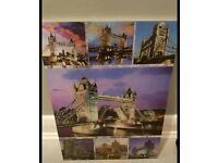 Lovely 3d london canvas /board picture