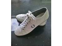 Fred Perry White Plimsoles