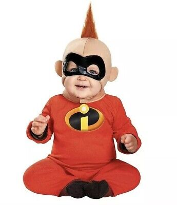 Incredibles 2 Jack Jack Baby Halloween Costume jumpsuit/mask 6-12 month NWT - Infant Incredibles Costume