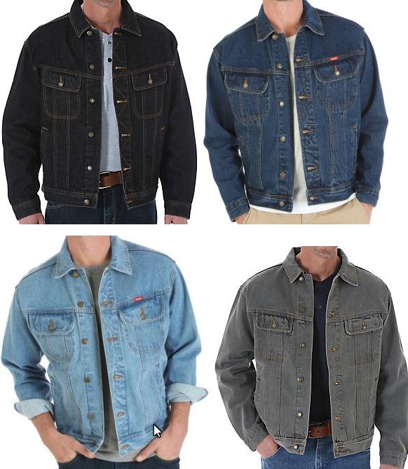 Men's Wrangler Rugged Wear Denim Jacket  - Inside Pockets