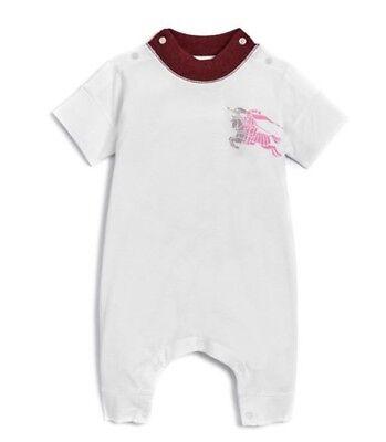 Burberry Children Girls' Randal Playsuit  Baby Cotton Jumpsuit Size 3 6 9 M baby