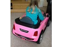 Children's electronic pink mini cooper
