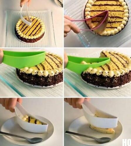BUAU New Cake Slicer Sheet Guide Cutter Server Bread Slice Kitchen Gadget Random