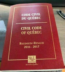 Code civil du Québec 2016-2017 Wilson Lafleur Baudouin Renaud