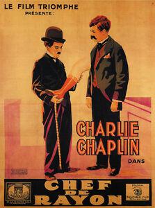 The Floorwalker 1916 Charlie Chaplin Movie Poster Print 2 ...