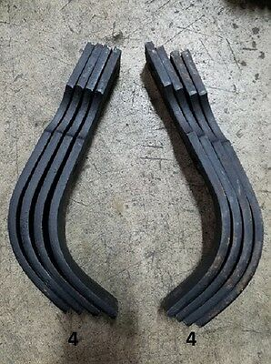 4 Each LH&RH Replacement Tines for Bush Hog RTS/RTL Tiller Part # 64454 & 64452