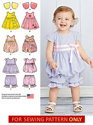 SEWING PATTERN! MAKE DRESS~JUMPER~PANTALOONS~BOLERO~TOP! BABY GIRL PREEMIE~24 LB