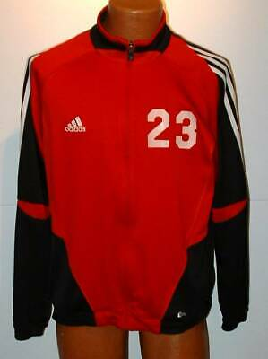 Adidas team gear Oberlin college soccer black red large