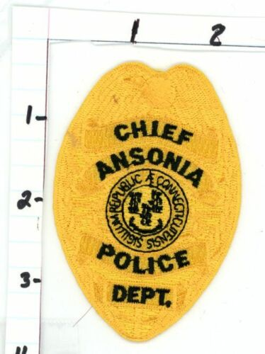 ANSONIA CONNECTICUT CT POLICE CHIEF NICE NEW COLORFUL PATCH SHERIFF