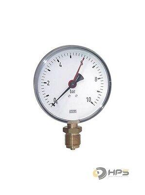 Wika Manometer (WIKA Vakumm oder Manometer Anschluss unten 1/2 Zoll Ø80mm, Ø100mm, Ø160mm Wasser)