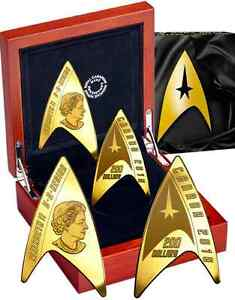 Star Trek Delta Coin $200 Pure Gold 2016 Proof. 1st DELTA-SHAPED