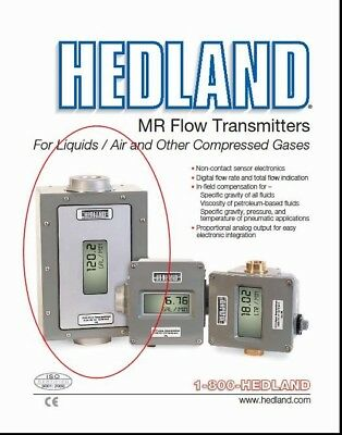 Hedland H800a-100-mr Variable-area Flow Meter Remote Transmitter