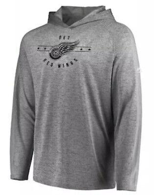 Majestic Men's Detroit Red Wings NHL Hockey Fan Flow Hoodie Hooded Shirt Large -