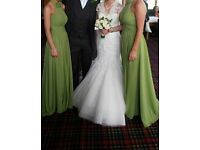 Brides dress and 3 bridesmaids