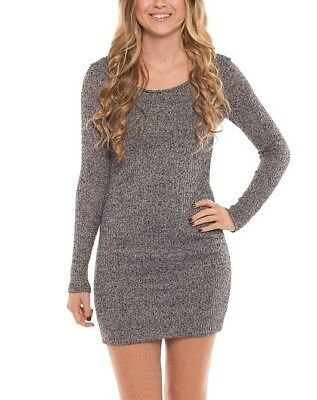 Round Neck Knit Kleid (Coveted Clothing Knit Long Sleeve Round Neck Bodycon Mini Dress)