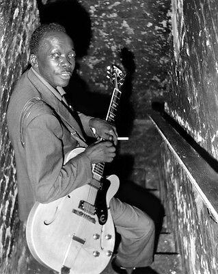 Blues Soul Singer JOHN LEE HOOKER Glossy 8x10 Photo Music Guitarist Print Poster