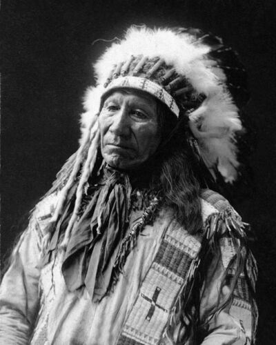 Native American CHIEF AMERICAN HORSE Glossy 8x10 Photo Oglala Lakota Print Sioux