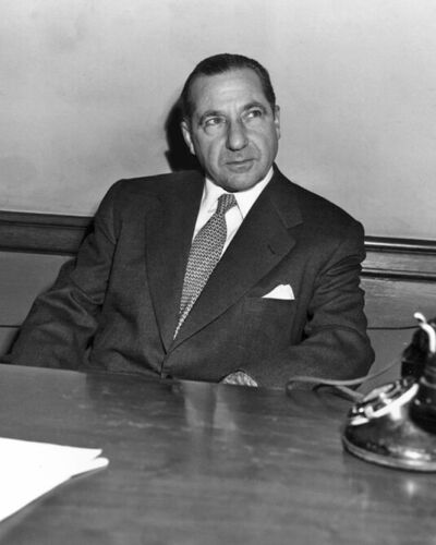 Gangster Boss Mobster FRANK COSTELLO 8x10 Photo Genovese Crime Family Poster