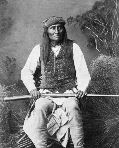 Native American Indian MANGAS Glossy 8x10 Photo Apache Chief Print Poster