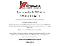 Rooms available TODAY in SMALL HEATH