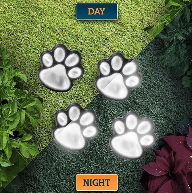 LED Solar Power Paw Animal Prints Light Garden Outdoor Lamp Path Landscape Cute Home & Garden