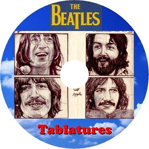 THE-BEATLES-BEST-OF-GUITAR-TAB-CD-TABLATURE-SONG-BOOK-GREATEST-HITS-BASS