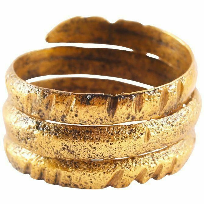ANCIENT VIKING COIL RING C.850-1050 AD SIZE 11