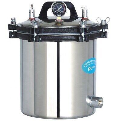 24l Portable Stainless Steel High Temperature Pressure Steam Sterilizer Pots